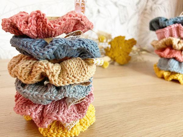 Coloris des Chouchoux d'été-Accessoires cheveux tricotés en coton empilés-Mignonnery