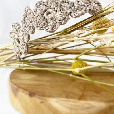 serre-tête 3 fleurs or-Accessoire cheveux Cérémonie (mariage, communion)-Mignonnery