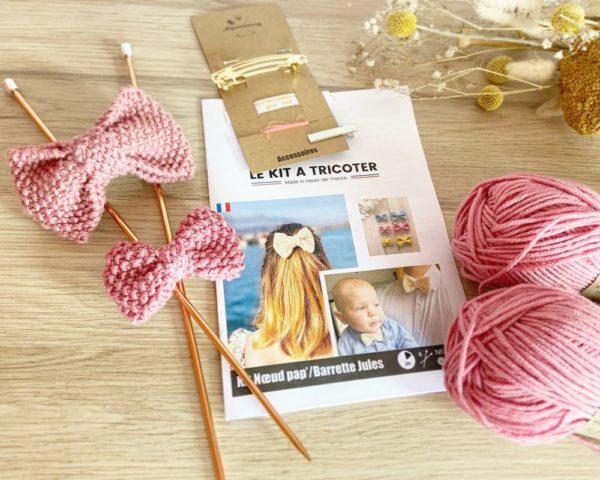kit tricot barrette/pince cheveux /nœud papillon-Mignonnery