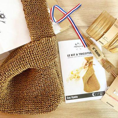 Kit tricot débutant-Sac à main Raphia-Mignonnery