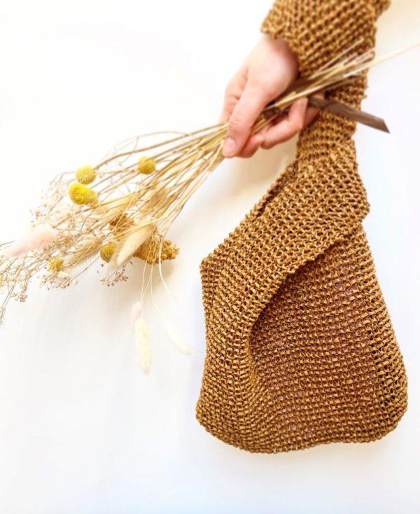 Sac à main Raphia Kyoto porté-Le kit tricot débutant-Mignonnery